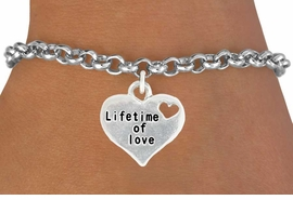 "<bR>                   EXCLUSIVELY OURS!!<BR>             AN ALLAN ROBIN DESIGN!!<BR>    CLICK HERE TO SEE 600+ EXCITING<BR>       CHANGES THAT YOU CAN MAKE!<BR>                  LEAD & NICKEL FREE!!<BR> W1043SN - ""LIFETIME OF LOVE"" HEART<Br> BRACELET FROM $4.15 TO $8.00 �2011"