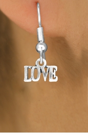 "<bR>               EXCLUSIVELY OURS!!<BR>         AN ALLAN ROBIN DESIGN!!<BR>CLICK HERE TO SEE 600+ EXCITING<BR>   CHANGES THAT YOU CAN MAKE!<BR>              LEAD & NICKEL FREE!!<BR>                 W1045SE - ""LOVE""<Br>  EARRINGS FROM $4.50 TO $8.35"