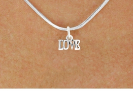 "<bR>               EXCLUSIVELY OURS!!<BR>         AN ALLAN ROBIN DESIGN!!<BR>CLICK HERE TO SEE 600+ EXCITING<BR>   CHANGES THAT YOU CAN MAKE!<BR>              LEAD & NICKEL FREE!!<BR>                 W1045SN - ""LOVE""<Br>  NECKLACE FROM $4.50 TO $8.35"