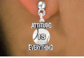 "<bR>                               EXCLUSIVELY OURS!!<BR>                        AN ALLAN ROBIN DESIGN!!<BR>                CLICK HERE TO SEE 600+ EXCITING<BR>                   CHANGES THAT YOU CAN MAKE!<BR>                              LEAD & NICKEL FREE!!<BR>           W1047SE - ""ATTITUDE IS EVERYTHING""<Br>                          TENNIS BALL  EARRING <BR>                      FROM 4.50 TO $8.35 ©2011"