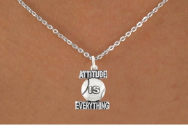 "<bR>                               EXCLUSIVELY OURS!!<BR>                        AN ALLAN ROBIN DESIGN!!<BR>                CLICK HERE TO SEE 600+ EXCITING<BR>                   CHANGES THAT YOU CAN MAKE!<BR>                              LEAD & NICKEL FREE!!<BR>           W1047SN - ""ATTITUDE IS EVERYTHING""<Br>                          TENNIS BALL NECKLACE <BR>                  FROM $4.50 TO $8.35 ©2011"