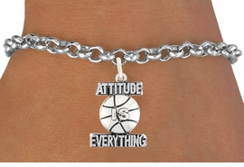 "<bR>                          EXCLUSIVELY OURS!!<BR>                   AN ALLAN ROBIN DESIGN!!<BR>           CLICK HERE TO SEE 600+ EXCITING<BR>              CHANGES THAT YOU CAN MAKE!<BR>          LEAD, CADMIUM, & NICKEL FREE!!<BR>      W1048SB - ""ATTITUDE IS EVERYTHING"" <br>                    BASKET BALL BRACELET<br>                FROM $4.15 TO $8.00 ©2011"