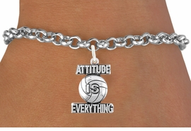 "<bR>                                 EXCLUSIVELY OURS!!<BR>                           AN ALLAN ROBIN DESIGN!!<BR>                  CLICK HERE TO SEE 600+ EXCITING<BR>                     CHANGES THAT YOU CAN MAKE!<BR>                                LEAD & NICKEL FREE!!<BR>              W1050SB - ""ATTITUDE IS EVERYTHING"" <Br>VOLLEYBALL BRACELET FROM $4.50 TO $8.35 ©2011"