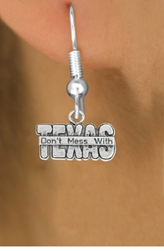 "<bR>                   EXCLUSIVELY OURS!!<BR>             AN ALLAN ROBIN DESIGN!!<BR>    CLICK HERE TO SEE 600+ EXCITING<BR>       CHANGES THAT YOU CAN MAKE!<BR>                  LEAD & NICKEL FREE!!<BR> W1052SN - ""DON'T MESS WITH TEXAS""<Br>EARRINGS FROM $4.50 TO $8.35 �2011"