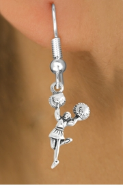 """<bR>                    EXCLUSIVELY OURS!!<BR>              AN ALLAN ROBIN DESIGN!!<BR>     CLICK HERE TO SEE 600+ EXCITING<BR>        CHANGES THAT YOU CAN MAKE!<BR>                   LEAD & NICKEL FREE!!<BR>             W1054SE - """"CHEERLEADER""""<Br>EARRINGS FROM $4.50 TO $8.35 �2011"""