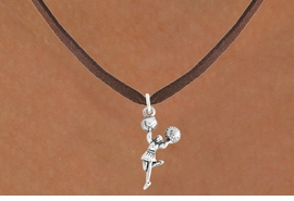 "<bR>                   EXCLUSIVELY OURS!!<BR>             AN ALLAN ROBIN DESIGN!!<BR>    CLICK HERE TO SEE 600+ EXCITING<BR>       CHANGES THAT YOU CAN MAKE!<BR>                  LEAD & NICKEL FREE!!<BR>            W1054SN - ""CHEERLEADER""<Br>NECKLACE FROM $4.50 TO $8.35 �2011"