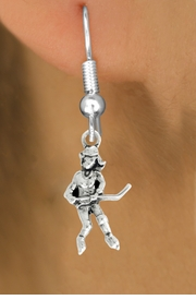 "<bR>                   EXCLUSIVELY OURS!!<BR>             AN ALLAN ROBIN DESIGN!!<BR>    CLICK HERE TO SEE 600+ EXCITING<BR>       CHANGES THAT YOU CAN MAKE!<BR>                  LEAD & NICKEL FREE!!<BR>             W1056SE - ""HOCKEY GIRL""<Br>EARRINGS FROM $4.50 TO $8.35 �2011"