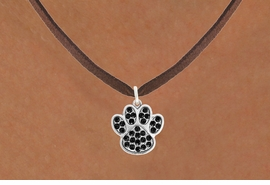 <bR>                            EXCLUSIVELY OURS!!<BR>                      AN ALLAN ROBIN DESIGN!!<BR>             CLICK HERE TO SEE 600+ EXCITING<BR>                CHANGES THAT YOU CAN MAKE!<BR>                           LEAD & NICKEL FREE!!<BR>             W1057SN BLACK PAW  NECKLACE <br>                   FROM $5.55 TO $9.00 �2011