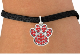 <bR>                                 EXCLUSIVELY OURS!!<BR>                           AN ALLAN ROBIN DESIGN!!<BR>                  CLICK HERE TO SEE 600+ EXCITING<BR>                     CHANGES THAT YOU CAN MAKE!<BR>                                LEAD & NICKEL FREE!!<BR>                     W1059SB - RED PAW BRACELET<br>                         FROM $5.15 TO $9.00 ©2011