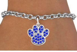 <bR>                                 EXCLUSIVELY OURS!!<BR>                           AN ALLAN ROBIN DESIGN!!<BR>                  CLICK HERE TO SEE 600+ EXCITING<BR>                     CHANGES THAT YOU CAN MAKE!<BR>                                LEAD & NICKEL FREE!!<BR>                    W1060SB - BLUE PAW BRACELET<br>                         FROM $5.15 TO $9.00 ©2011