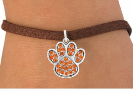 <bR>                                 EXCLUSIVELY OURS!!<BR>                           AN ALLAN ROBIN DESIGN!!<BR>                  CLICK HERE TO SEE 600+ EXCITING<BR>                     CHANGES THAT YOU CAN MAKE!<BR>                                LEAD & NICKEL FREE!!<BR>                 W1061SB - ORANGE PAW BRACELET<br>                         FROM $5.15 TO $9.00 ©2011
