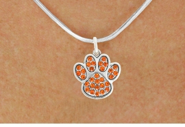 <bR>                            EXCLUSIVELY OURS!!<BR>                      AN ALLAN ROBIN DESIGN!!<BR>             CLICK HERE TO SEE 600+ EXCITING<BR>                CHANGES THAT YOU CAN MAKE!<BR>                           LEAD & NICKEL FREE!!<BR>           W1061SN - ORANGE PAW NECKLACE <br>                   FROM $5.55 TO $9.00 �2011