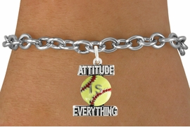 "<bR>                               EXCLUSIVELY OURS!!<BR>                        AN ALLAN ROBIN DESIGN!!<BR>                CLICK HERE TO SEE 600+ EXCITING<BR>                   CHANGES THAT YOU CAN MAKE!<BR>                              LEAD & NICKEL FREE!!<BR>           W1062SB - ""ATTITUDE IS EVERYTHING""<Br>  SOFTBALL BRACELET FROM $4.50 TO $8.35 ©2011"