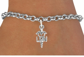 <bR>                   EXCLUSIVELY OURS!!<BR>             AN ALLAN ROBIN DESIGN!!<BR>    CLICK HERE TO SEE 600+ EXCITING<BR>       CHANGES THAT YOU CAN MAKE!<BR>                  LEAD & NICKEL FREE!!<BR>                 W1063SB - LPN NURSE<Br>BRACELET FROM $4.15 TO $8.00 �2011