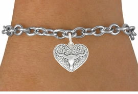 <bR>                   EXCLUSIVELY OURS!!<BR>             AN ALLAN ROBIN DESIGN!!<BR>    CLICK HERE TO SEE 600+ EXCITING<BR>       CHANGES THAT YOU CAN MAKE!<BR>                  LEAD & NICKEL FREE!!<BR>W1066SB - LONGHORN IN HEART CHARM<Br>& BRACELET FROM $4.15 TO $8.00 �2011