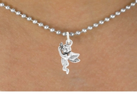"""<bR>                   EXCLUSIVELY OURS!!<BR>             AN ALLAN ROBIN DESIGN!!<BR>    CLICK HERE TO SEE 600+ EXCITING<BR>       CHANGES THAT YOU CAN MAKE!<BR>                  LEAD & NICKEL FREE!!<BR>           W1067SN - """"FLYING ANGEL""""<Br>NECKLACE FROM $4.50 TO $8.35 �2011"""