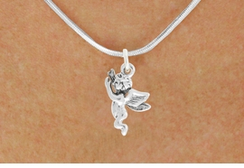 "<bR>                   EXCLUSIVELY OURS!!<BR>             AN ALLAN ROBIN DESIGN!!<BR>    CLICK HERE TO SEE 600+ EXCITING<BR>       CHANGES THAT YOU CAN MAKE!<BR>                  LEAD & NICKEL FREE!!<BR>           W1067SN - ""FLYING ANGEL""<Br>NECKLACE FROM $4.50 TO $8.35 �2011"