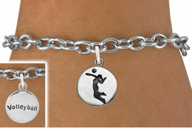 "<bR>                                 EXCLUSIVELY OURS!!<BR>                           AN ALLAN ROBIN DESIGN!!<BR>                  CLICK HERE TO SEE 2000+ EXCITING<BR>                     CHANGES THAT YOU CAN MAKE!<BR>                                LEAD & NICKEL FREE!!<BR>W1070SB - 2 SIDED - ""GIRL SPIKING / VOLLEYBALL""<Br>             BRACELET FROM $4.15 TO $8.00 ©2011"
