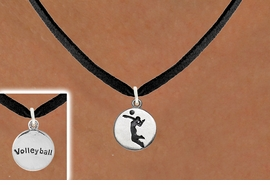 "<bR>                                EXCLUSIVELY OURS!!<BR>                          AN ALLAN ROBIN DESIGN!!<BR>                 CLICK HERE TO SEE 2000+ EXCITING<BR>                    CHANGES THAT YOU CAN MAKE!<BR>                               LEAD & NICKEL FREE!!<BR>W1070SN - 2 SIDED - ""GIRL SPIKING / VOLLEYBALL""<Br>             NECKLACE FROM $4.50 TO $8.35 �2011"