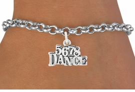 "<bR>                                 EXCLUSIVELY OURS!!<BR>                           AN ALLAN ROBIN DESIGN!!<BR>                  CLICK HERE TO SEE 600+ EXCITING<BR>                     CHANGES THAT YOU CAN MAKE!<BR>                   LEAD, CADMIUM,  & NICKEL FREE!!<BR>                        W1071SB - ""5, 6, 7, 8, DANCE""<Br>             BRACELET FROM $4.15 TO $8.00 ©2011"