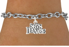 "<bR>                                 EXCLUSIVELY OURS!!<BR>                           AN ALLAN ROBIN DESIGN!!<BR>                  CLICK HERE TO SEE 600+ EXCITING<BR>                     CHANGES THAT YOU CAN MAKE!<BR>                                LEAD & NICKEL FREE!!<BR>                        W1071SB - ""5, 6, 7, 8, DANCE""<Br>             BRACELET FROM $4.15 TO $8.00 ©2011"
