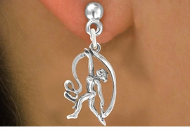 "<bR>                  EXCLUSIVELY OURS!!<BR>            AN ALLAN ROBIN DESIGN!!<BR>   CLICK HERE TO SEE 600+ EXCITING<BR>      CHANGES THAT YOU CAN MAKE!<BR>                 LEAD & NICKEL FREE!!<BR>W1073SE - ""GYMNAST WITH RIBBON""<Br>      EARRINGS FROM $4.50 TO $8.35"