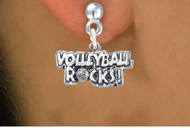 "<bR>                      EXCLUSIVELY OURS!!<BR>                AN ALLAN ROBIN DESIGN!!<BR>       CLICK HERE TO SEE 600+ EXCITING<BR>          CHANGES THAT YOU CAN MAKE!<BR>                     LEAD & NICKEL FREE!!<BR>W1093SE - ""VOLLEYBALL ROCKS"" CHARM<Br>    EARRINGS FROM $4.50 TO $8.35 �2011"