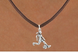 "<bR>                            EXCLUSIVELY OURS!!<BR>                      AN ALLAN ROBIN DESIGN!!<BR>             CLICK HERE TO SEE 600+ EXCITING<BR>                CHANGES THAT YOU CAN MAKE!<BR>                           LEAD & NICKEL FREE!!<BR>             W1097SN - ""SOCCER GIRL"" CHARM<Br>      & NECKLACE FROM $4.50 TO $8.35 �2011"