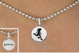 "<bR>                            EXCLUSIVELY OURS!!<BR>                      AN ALLAN ROBIN DESIGN!!<BR>             CLICK HERE TO SEE 600+ EXCITING<BR>                CHANGES THAT YOU CAN MAKE!<BR>                           LEAD & NICKEL FREE!!<BR>W1098SN - 2 SIDED ""GIRL KICKING BALL / SOCCER""<Br>  CHARM & NECKLACE FROM $4.50 TO $8.35 �2011"