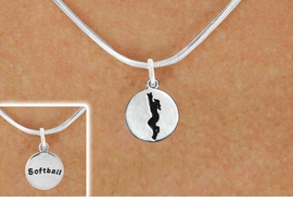 "<bR>                                  EXCLUSIVELY OURS!!<BR>                            AN ALLAN ROBIN DESIGN!!<BR>                   CLICK HERE TO SEE 600+ EXCITING<BR>                      CHANGES THAT YOU CAN MAKE!<BR>                                 LEAD & NICKEL FREE!!<BR>W1099SN - 2 SIDED ""GIRL CATCHING BALL / SOFTBALL""<Br>    CHARM & NECKLACE FROM $4.50 TO $8.35 �2011"