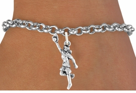 "<bR>                              EXCLUSIVELY OURS!!<BR>                        AN ALLAN ROBIN DESIGN!!<BR>               CLICK HERE TO SEE 600+ EXCITING<BR>                  CHANGES THAT YOU CAN MAKE!<BR>                             LEAD & NICKEL FREE!!<BR>W1100SB - ""GIRL CATCHING SOFTBALL"" CHARM<Br>         & BRACELET FROM $4.15 TO $8.00 ©2011"