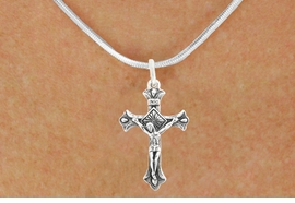 "<bR>                   EXCLUSIVELY OURS!!<BR>             AN ALLAN ROBIN DESIGN!!<BR>    CLICK HERE TO SEE 600+ EXCITING<BR>       CHANGES THAT YOU CAN MAKE!<BR>                  LEAD & NICKEL FREE!!<BR>     W1101SN - ""CRUCIFIX"" CHARM &<Br>NECKLACE FROM $4.50 TO $8.35 �2011"