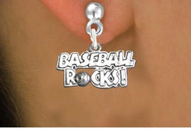"""<bR>                   EXCLUSIVELY OURS!!<BR>             AN ALLAN ROBIN DESIGN!!<BR>    CLICK HERE TO SEE 600+ EXCITING<BR>       CHANGES THAT YOU CAN MAKE!<BR>                  LEAD & NICKEL FREE!!<BR>W1102SE - """"BASEBALL ROCKS"""" CHARM<Br>EARRINGS FROM $4.50 TO $8.35 �2011"""