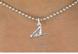"<bR>                      EXCLUSIVELY OURS!!<BR>                AN ALLAN ROBIN DESIGN!!<BR>       CLICK HERE TO SEE 600+ EXCITING<BR>          CHANGES THAT YOU CAN MAKE!<BR>                     LEAD & NICKEL FREE!!<BR> W1104SN - ""GYMNASTIC TUMBLER"" CHARM <Br>   & NECKLACE FROM $4.50 TO $8.35 �2011"