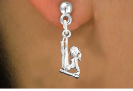"<bR>                   EXCLUSIVELY OURS!!<BR>             AN ALLAN ROBIN DESIGN!!<BR>    CLICK HERE TO SEE 600+ EXCITING<BR>       CHANGES THAT YOU CAN MAKE!<BR>                  LEAD & NICKEL FREE!!<BR> W1105SE - ""GYMNAST ON BALANCE BEAM""<Br>EARRINGS FROM $4.50 TO $8.35 �2011"