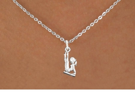 "<bR>                      EXCLUSIVELY OURS!!<BR>                AN ALLAN ROBIN DESIGN!!<BR>       CLICK HERE TO SEE 600+ EXCITING<BR>          CHANGES THAT YOU CAN MAKE!<BR>                     LEAD & NICKEL FREE!!<BR>   W1105SN - ""GYMNAST ON BALANCE BEAM"" <Br>CHARM & NECKLACE FROM $4.50 TO $8.35 �2011"