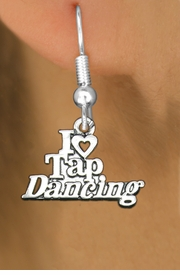 "<bR>                   EXCLUSIVELY OURS!!<BR>             AN ALLAN ROBIN DESIGN!!<BR>    CLICK HERE TO SEE 600+ EXCITING<BR>       CHANGES THAT YOU CAN MAKE!<BR>                  LEAD & NICKEL FREE!!<BR> W1106SE - ""I HEART TAP DANCING""<Br>EARRINGS FROM $4.50 TO $8.35 �2011"