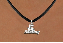 "<bR>                      EXCLUSIVELY OURS!!<BR>                AN ALLAN ROBIN DESIGN!!<BR>       CLICK HERE TO SEE 600+ EXCITING<BR>          CHANGES THAT YOU CAN MAKE!<BR>                     LEAD & NICKEL FREE!!<BR>   W1106SN - ""I HEART TAP DANCING"" CHARM <Br>   & NECKLACE FROM $4.50 TO $8.35 �2011"