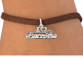 "<bR>                      EXCLUSIVELY OURS!!<BR>                AN ALLAN ROBIN DESIGN!!<BR>       CLICK HERE TO SEE 600+ EXCITING<BR>          CHANGES THAT YOU CAN MAKE!<BR>                     LEAD & NICKEL FREE!!<BR>    W1112B4 - ""I LOVE LACROSSE"" CHARM & <Br>     BRACELET FROM $4.15 TO $8.00 �2011"