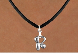 "<bR>                      EXCLUSIVELY OURS!!<BR>                AN ALLAN ROBIN DESIGN!!<BR>       CLICK HERE TO SEE 600+ EXCITING<BR>          CHANGES THAT YOU CAN MAKE!<BR>                     LEAD & NICKEL FREE!!<BR>  W1114SN - ""I LOVE BOWLING"" CHARM & <Br>    NECKLACE FROM $4.50 TO $8.35 �2011"