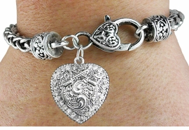 <bR>                             EXCLUSIVELY OURS!!<BR>                       AN ALLAN ROBIN DESIGN!!<BR>              CLICK HERE TO SEE 600+ EXCITING<BR>                 CHANGES THAT YOU CAN MAKE!<BR>                           LEAD & NICKEL FREE!!<BR>W1142SB - CRYSTAL CROSSED PISTOLS HEART CHARM  <Br>& HEART CLASP BRACELET FROM $5.63 TO $12.50 �2012