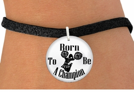 "<bR>                               EXCLUSIVELY OURS!!<BR>                         AN ALLAN ROBIN DESIGN!!<BR>                CLICK HERE TO SEE 600+ EXCITING<BR>                   CHANGES THAT YOU CAN MAKE!<BR>                             LEAD & NICKEL FREE!!<BR>W1146SB - ""BORN TO BE A CHAMPION"" CHEERLEADER<Br>CHARM  & BRACELET FROM $4.15 TO $8.00 �2012"