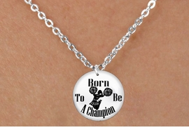 "<bR>                              EXCLUSIVELY OURS!!<BR>                        AN ALLAN ROBIN DESIGN!!<BR>               CLICK HERE TO SEE 600+ EXCITING<BR>                  CHANGES THAT YOU CAN MAKE!<BR>                             LEAD & NICKEL FREE!!<BR>W1146SN - ""BORN TO BE A CHAMPION "" CHEERLEADER<Br>CHARM & CHILDRENS NECKLACE FROM $4.50 TO $8.35 �2012"