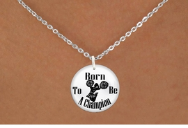 "<bR>                              EXCLUSIVELY OURS!!<BR>                        AN ALLAN ROBIN DESIGN!!<BR>               CLICK HERE TO SEE 600+ EXCITING<BR>                  CHANGES THAT YOU CAN MAKE!<BR>                             LEAD & NICKEL FREE!!<BR>W1146SN - ""BORN TO BE A CHAMPION "" CHEERLEADER<Br>CHARM & NECKLACE FROM $4.50 TO $8.35 �2012"