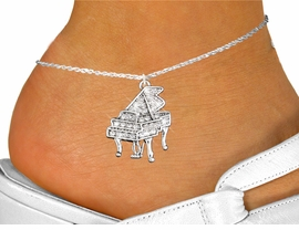 <bR>                 EXCLUSIVELY OURS!!<BR>           AN ALLAN ROBIN DESIGN!!<BR>  CLICK HERE TO SEE 600+ EXCITING<BR>     CHANGES THAT YOU CAN MAKE!<BR>              LEAD & NICKEL FREE!!<BR>W1170SAK - GRAND PIANO CHARM<Br>& ANKLET FROM $4.35 TO $9.00 �2012