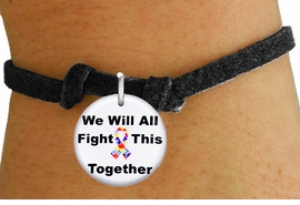 "<bR>                EXCLUSIVELY OURS!!<BR>          AN ALLAN ROBIN DESIGN!!<BR>  CLICK HERE TO SEE 600+ EXCITING <BR>    CHANGES THAT YOU CAN MAKE!<BR>             LEAD & NICKEL FREE!! <BR>W1230SB - AUTISM PUZZLE RIBBON <BR>""WE WILL ALL FIGHT THIS TOGETHER"" <Br>     CHARM & CHILDRENS BRACELET <BR>        FROM $4.15 TO $8.00 �2012"