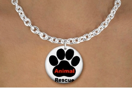 "<bR>                     EXCLUSIVELY OURS!!<BR>               AN ALLAN ROBIN DESIGN!!<BR>      CLICK HERE TO SEE 600+ EXCITING<BR>         CHANGES THAT YOU CAN MAKE!<BR>                    LEAD & NICKEL FREE!! <BR>W1259SN - ""ANIMAL RESCUE"" WITH PAW  <Br>                DISK CHARM & NECKLACE <BR>           FROM $4.50 TO $8.35 �2012"