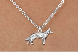 <bR>               EXCLUSIVELY OURS!!<BR>         AN ALLAN ROBIN DESIGN!!<BR>CLICK HERE TO SEE 600+ EXCITING<BR>   CHANGES THAT YOU CAN MAKE!<BR>              LEAD & NICKEL FREE!!<BR>      W1266SN - STANDING WOLF <Br>  CHARM & CHILDRENS NECKLACE<BR>      FROM $4.50 TO $8.35 �2012