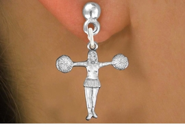 "<bR>               EXCLUSIVELY OURS!!<BR>         AN ALLAN ROBIN DESIGN!!<BR>CLICK HERE TO SEE 600+ EXCITING<BR>   CHANGES THAT YOU CAN MAKE!<BR>              LEAD & NICKEL FREE!! <BR>W1267SE -  ""T POSE"" CHEERLEADER <BR>   CHARM PIERCED EAR EARRINGS <BR>      FROM $4.50 TO $8.35 �2012"