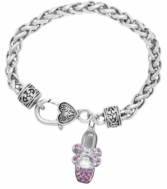 <bR>                   EXCLUSIVELY OURS!!<BR>             AN ALLAN ROBIN DESIGN!!<BR>    CLICK HERE TO SEE 600+ EXCITING<BR>       CHANGES THAT YOU CAN MAKE!<BR>                 LEAD & NICKEL FREE!!<BR>W1270SB - CRYSTAL BALLERINA SHOE <BR>CHARM & HEART CLASP BRACELET <BR>         FROM $5.63 TO $12.50 �2012
